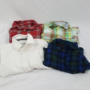 Boys Four Button Down Tops Size 24 Months